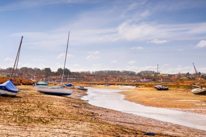 Blakeney harbour at low tide