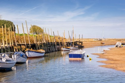 Moored boats at Blakeney