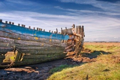 An old boat at Blakeney