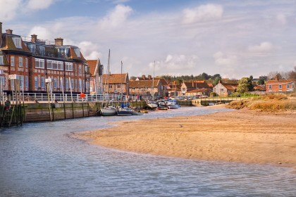 Blakeney Quay at low tide
