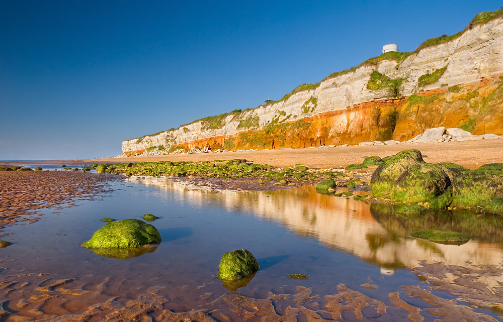 Hunstanton beach and cliffs