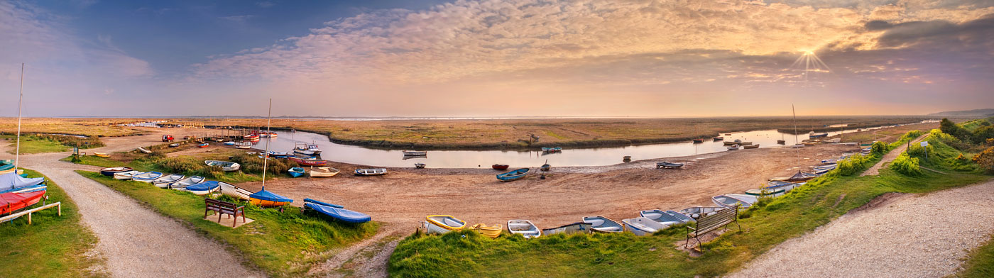 Norfolk coast panorama