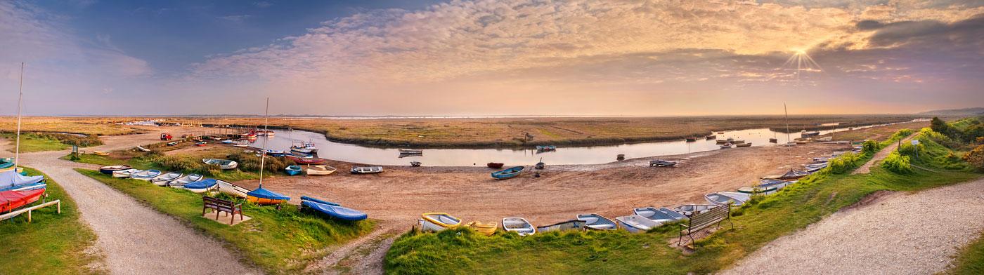 Norfolk coast panorama