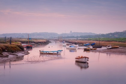 Sunrise at Morston harbour