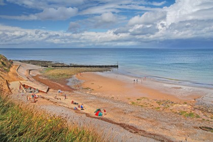 West Runton beach is ideal for families