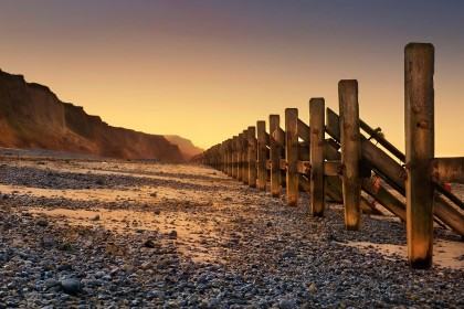 Sea defence groynes at West Runton