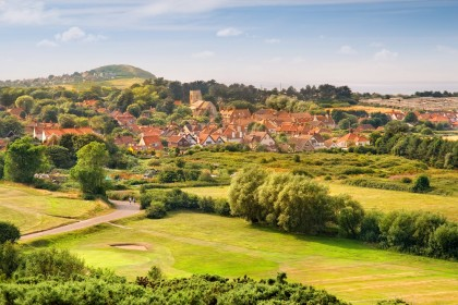 West Runton village from Incleborough Hill