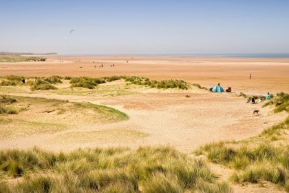 Miles of sandy beaches at Holkham on the Norfolk coast