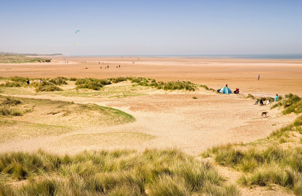 Holkham beach on the Norfolk coast