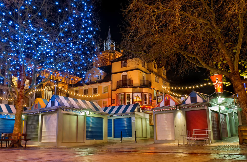 Norwich Market At Christmas