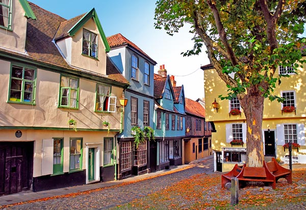 Elm Hill in Norwich