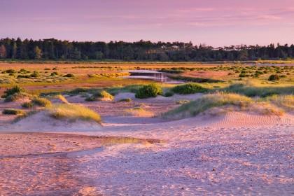 Sunset on holkham beach